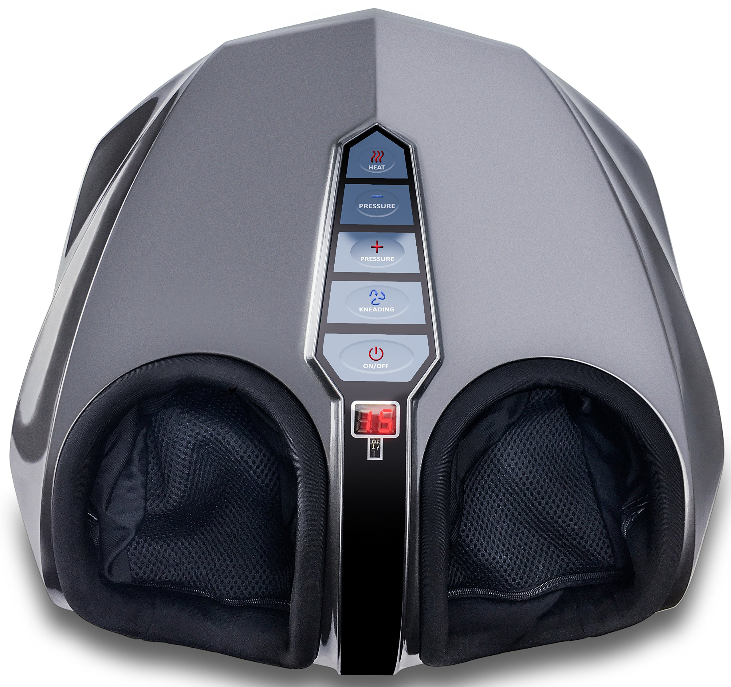Miko Shiatsu Foot Massager With Deep-Kneading, Multi-Level Settings, And Switchable Heat Charcoal Grey by Miko