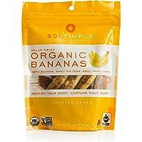 Sol Simple Solar Dried Banana Snack, Gluten & Preservative Free, No Sugar Added, USDA Organic, Non-GMO, Vegan & Kosher…