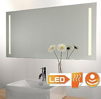 Badspiegel LED beleuchtet mit Sensor und Heizung 120 x 60 cm: Amazon ...