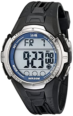 50903676f Image Unavailable. Image not available for. Color: Timex Men's 1440 Sports  Digital Black Band Chronograph Indiglo Watch T5K680