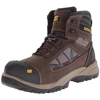 """Caterpillar Men's Compressor 6"""" Waterproof Composite Toe Boot,Clay,US 14 M: Shoes"""