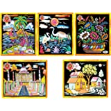 AsianHobbyCrafts Emboss Painting Kit (Set of 5)
