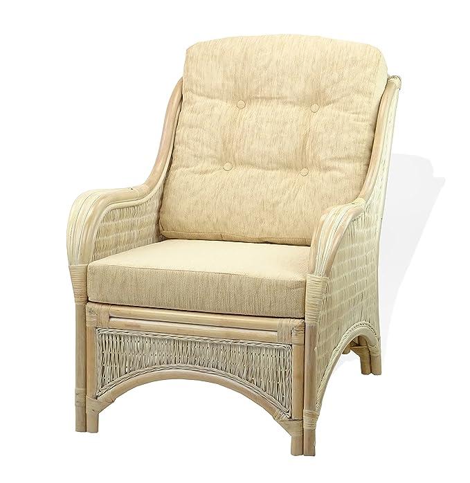 Amazon.com: JAM Living Set de 2 sillas de mimbre de ratán ...