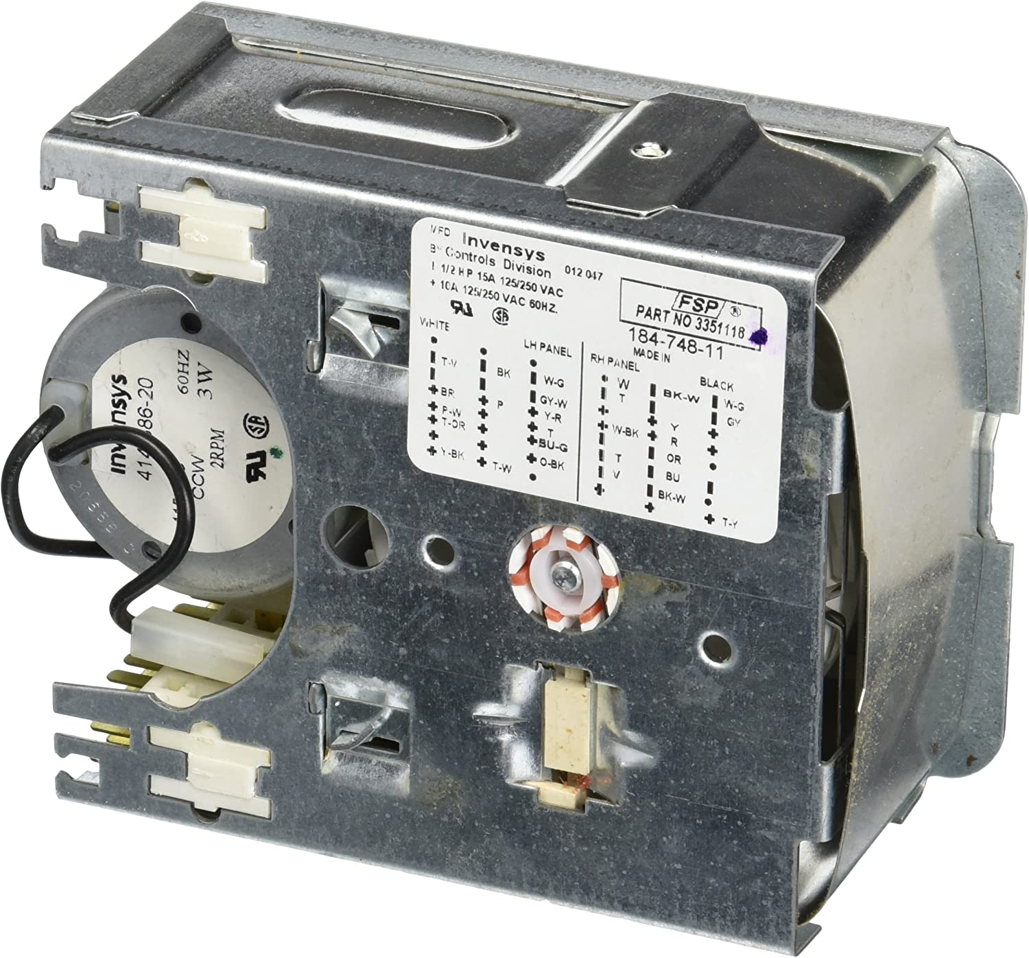 Whirlpool Part Number 3351118: TIMER