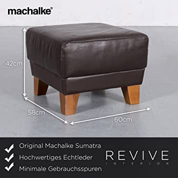 Machalke Design Bank.Amazon De Machalke Sumatra Leder Hocker Braun Echtleder Schemel