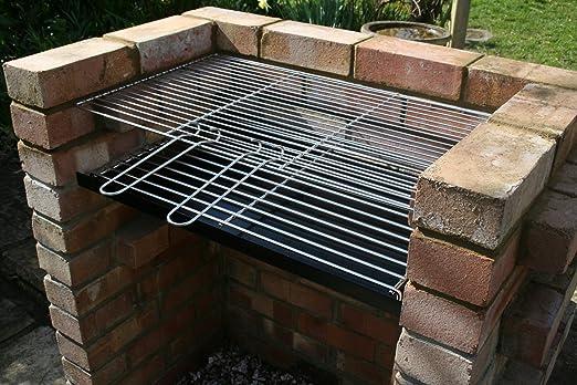 SunshineBBQs Gris de Ladrillos DIY Barbacoa 7 mm de Grosor para Chimenea de Gas y Acero Inoxidable Parrilla: Amazon.es: Jardín