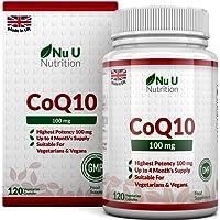 Coenzym Q10 100 mg - CoQ10-Nahrungsergänzungsmittel - 120 Kapseln - Nahrungsergänzungsmittel von Nu U Nutrition