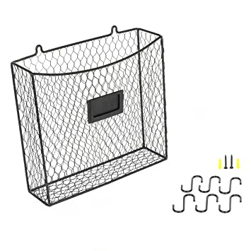 Amazon.com: Wall Mounted Multipurpose Mail Organizer Chicken Wire ...