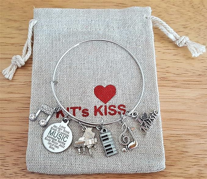 Amazon.com: Kits Kiss Pulsera de piano, Piano Joyería ...
