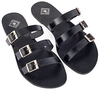 63ea78ac5d74f Amazon.com  Gallery Seven Slide Sandals For women