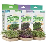 Back to the Roots 50041 DIY 6-Grow Variety Pack Organic Microgreens Kit, Indoor Gardening Starter Set