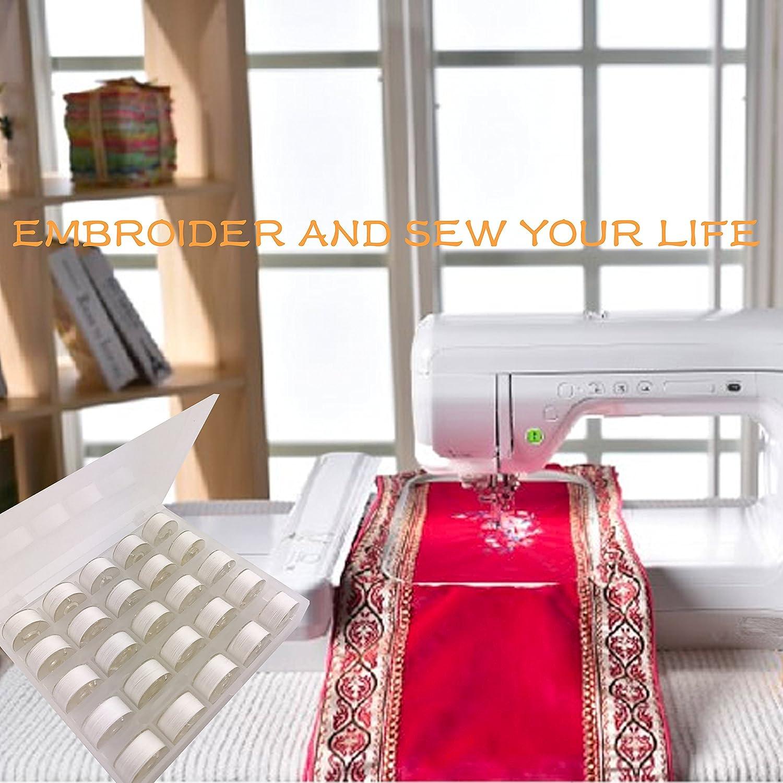... 60S/2 (90WT) bobina y hilo Plastica Size A (SA156) Para Bordado y Costura sobre Brother / Singer / Babylock / Janome / Kenmore máquina: Amazon.es: Hogar