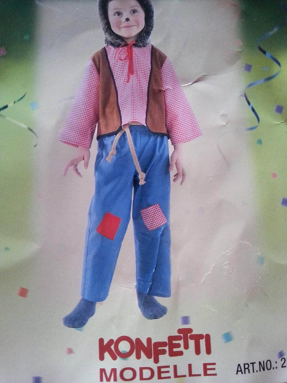 Niños Disfraz Carnaval erizo 2 piezas (Talla 104: Amazon.es ...