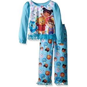 Daniel Tiger Toddler and Girls 2pc Pant Sleepwear Set