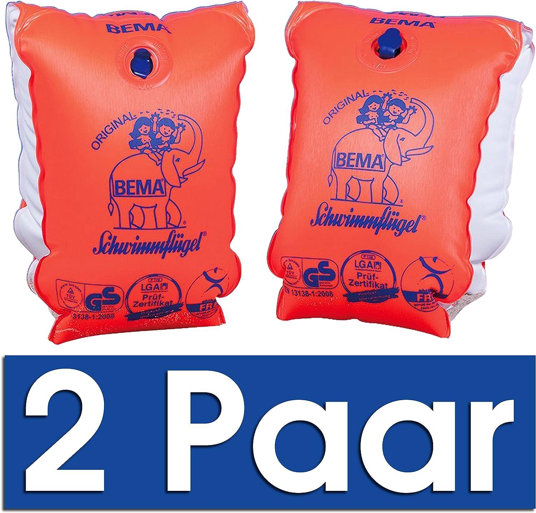 2er Set Surfer Board Blau + Schwimmfl/ügel Gr.1 Orange Bema Original Schwimmfl/ügel 30-60 kg//6-12 Jahre