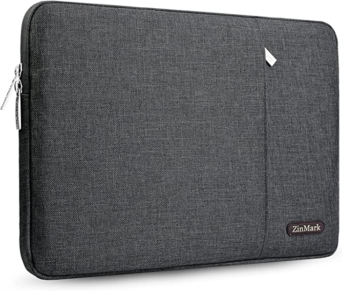 ZinMark Laptop Sleeve 15.6 Inch, Spill-Resistant Protective Case for 15.4-Inch MacBook Pro A1286 / Retina A1398 and Most 15.6-Inch Dell Lenovo HP Asus Samsung Toshiba Notebooks, Dark Gray II