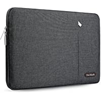 ZinMark Laptop Sleeve Case Compatible 2018 MacBook Air 13 A1932 Retina Display/MacBook Pro 13 A1989 A1706 A1708 USB-C 2018 2017 2016/Surface Pro 6/5/4/3,Polyester Bag Cover with Vertical Pocket, Dark Gray