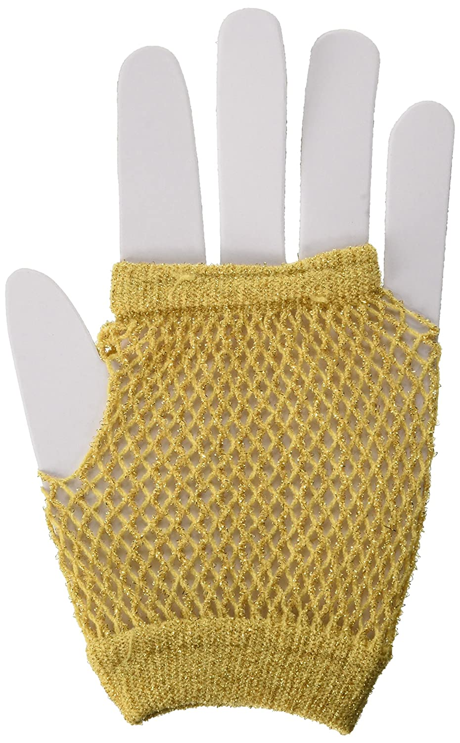 TradeMart Inc Party Accessory Gold Short Fishnet Gloves 395927.19 9 pairs 6 Pairs,