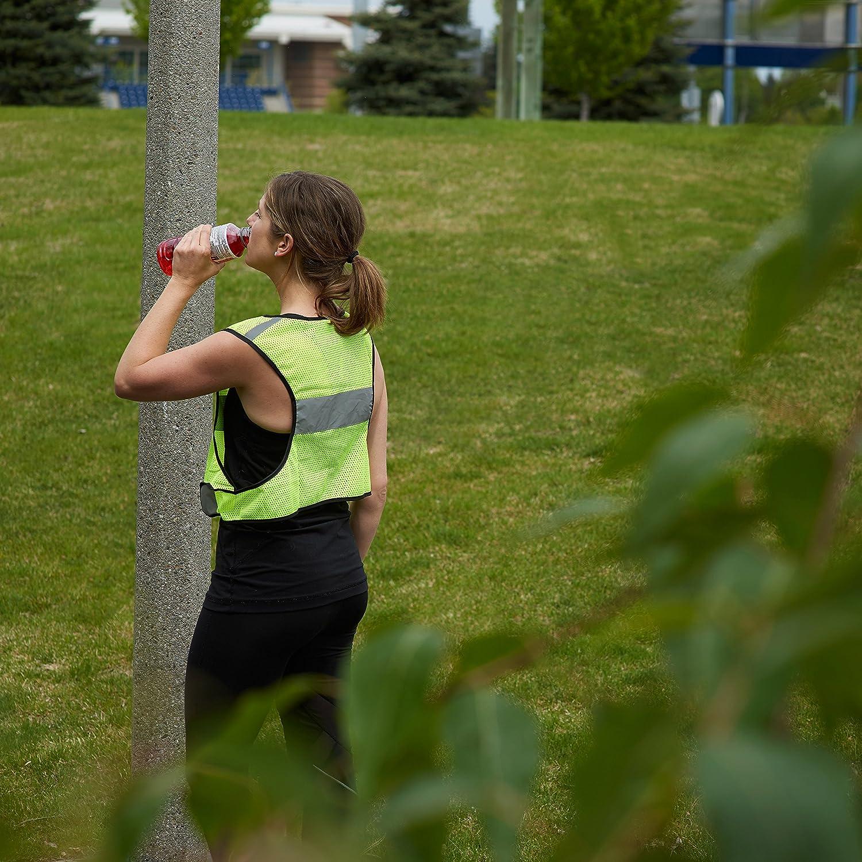 LW Living Water Reflective Running Vest with Bonus Sticker, Gear for Biking Walking Cycling Jogging LW Co