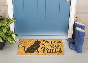 Para toallitas húmedas de gato Welcome Your Paws fibra de coco Felpudo