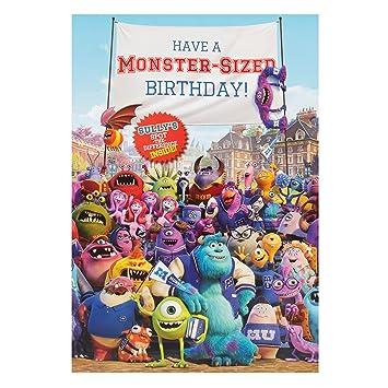 Hallmark Disney Monsters Inc Birthday Card Roarsome Medium Amazon