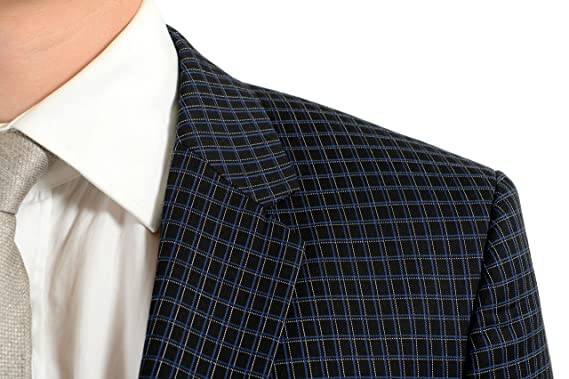 eabeb27af Amazon.com: Hugo Boss Astian/Hets Men's Plaid Wool Two Button Suit US 40S  IT 50S: Clothing