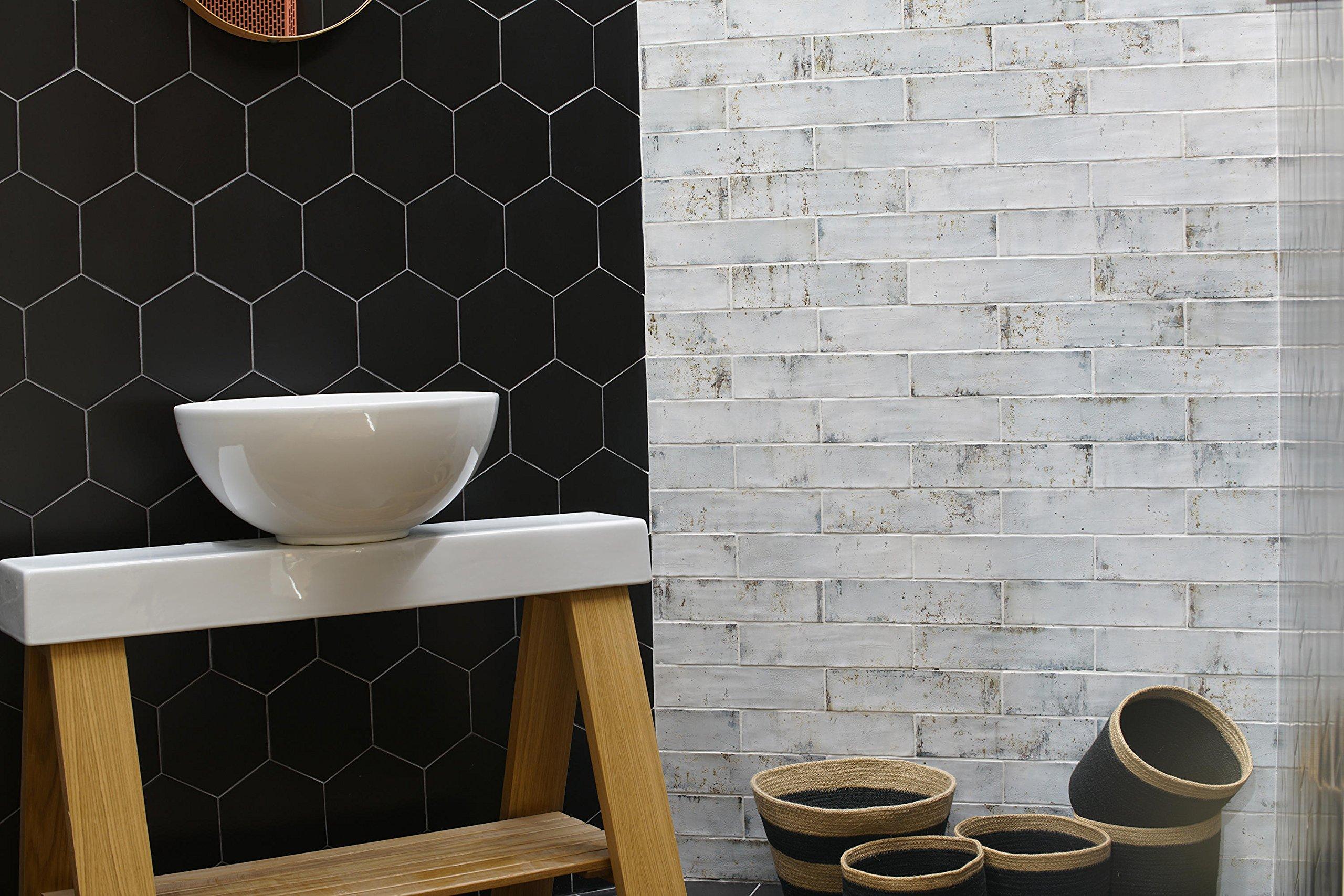 3x12 Palermo Collection Ocean Breeze White Glazed Ceramic Tile Backsplash Wall Bath 1SF (4 PIECES PER PACK)