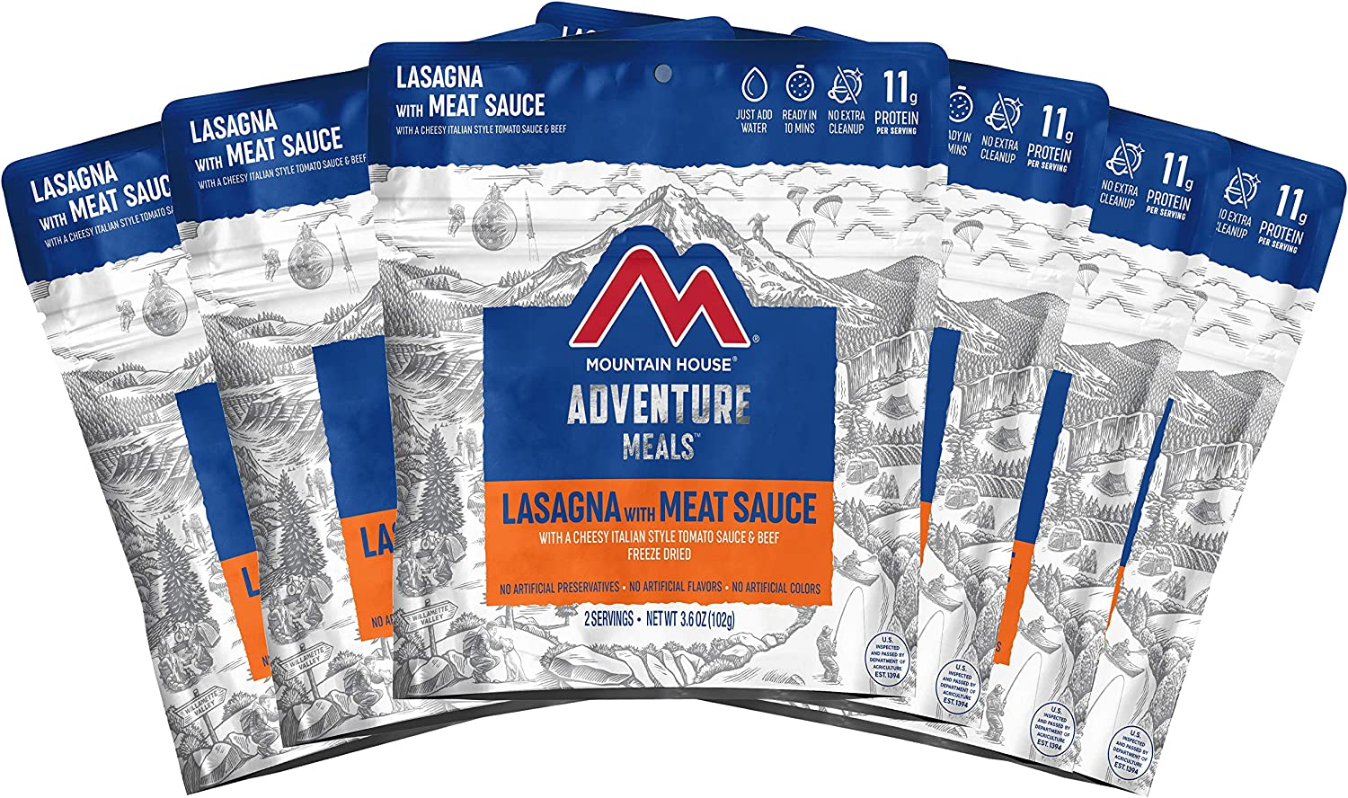 Mountain House Lasagna with Meat Sauce | Freeze Dried Backpacking & Camping Food | Survival & Emergency Food