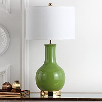 Safavieh Lighting Collection Paris Green Ceramic 27.5 Inch Table Lamp