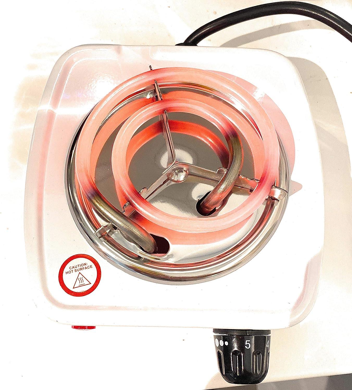 hornillo Shisha hornillo cachimba GS1 Global Office Hornillo electrico hornillo encender Carbon hornillo Potencia Regulable 500w Encendedor electrico hornillo electrico port/átil