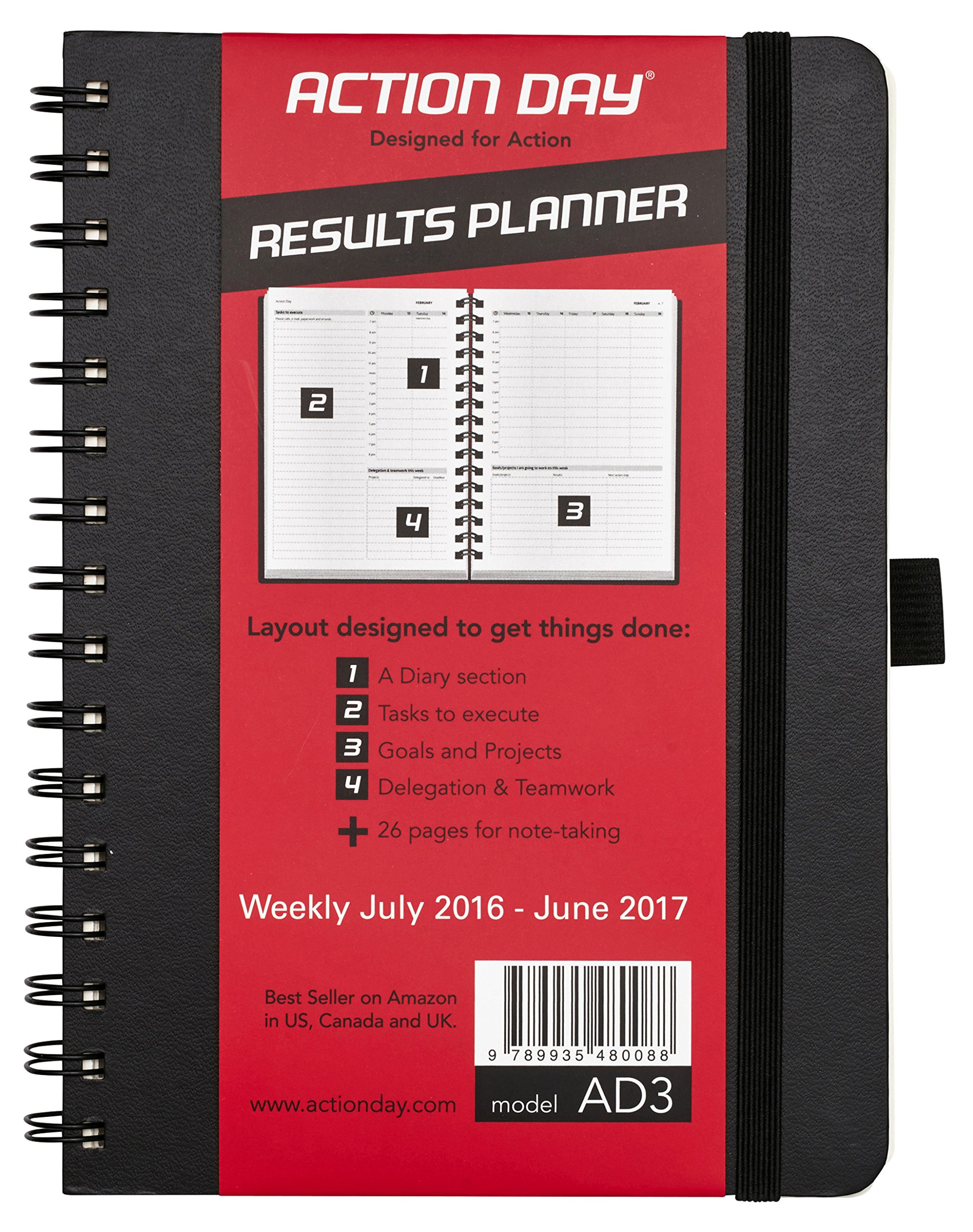 action day 2016 2017 wire bound academic calendar planner journal