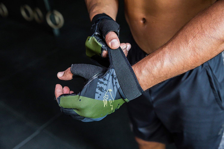 Green, Medium CABRAS AST Leather Mens Gym Glove WFL-301