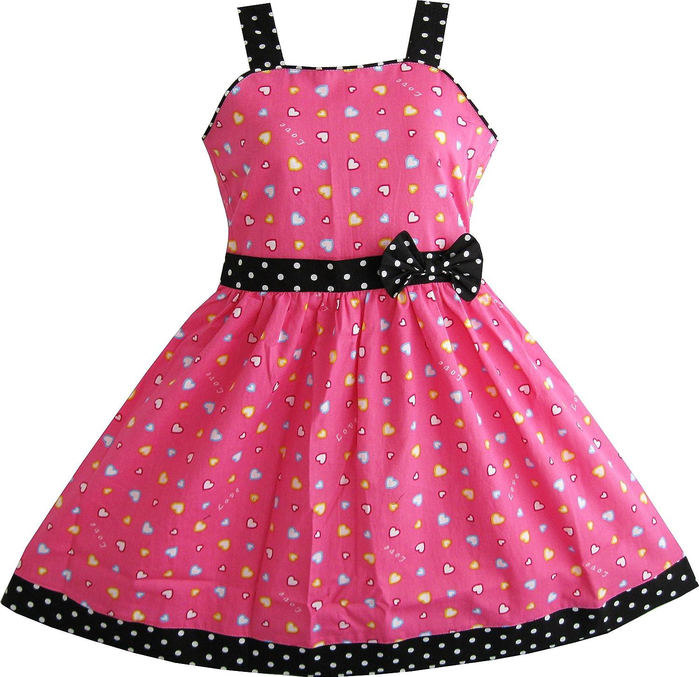 Sunny Fashion Vestido para niña B078LBDDNL años Corazón Niños ...