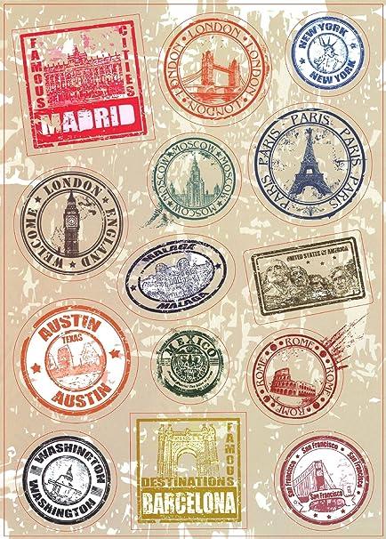 amazon com t b 2pcs multi countries retro vintage landmark monument