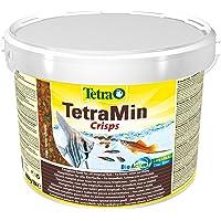 Tetra Min Crisps hoofdvoer voor alle tropische siervissen met een hoge voedingswaarde en minimale waterbelasting, 10 l