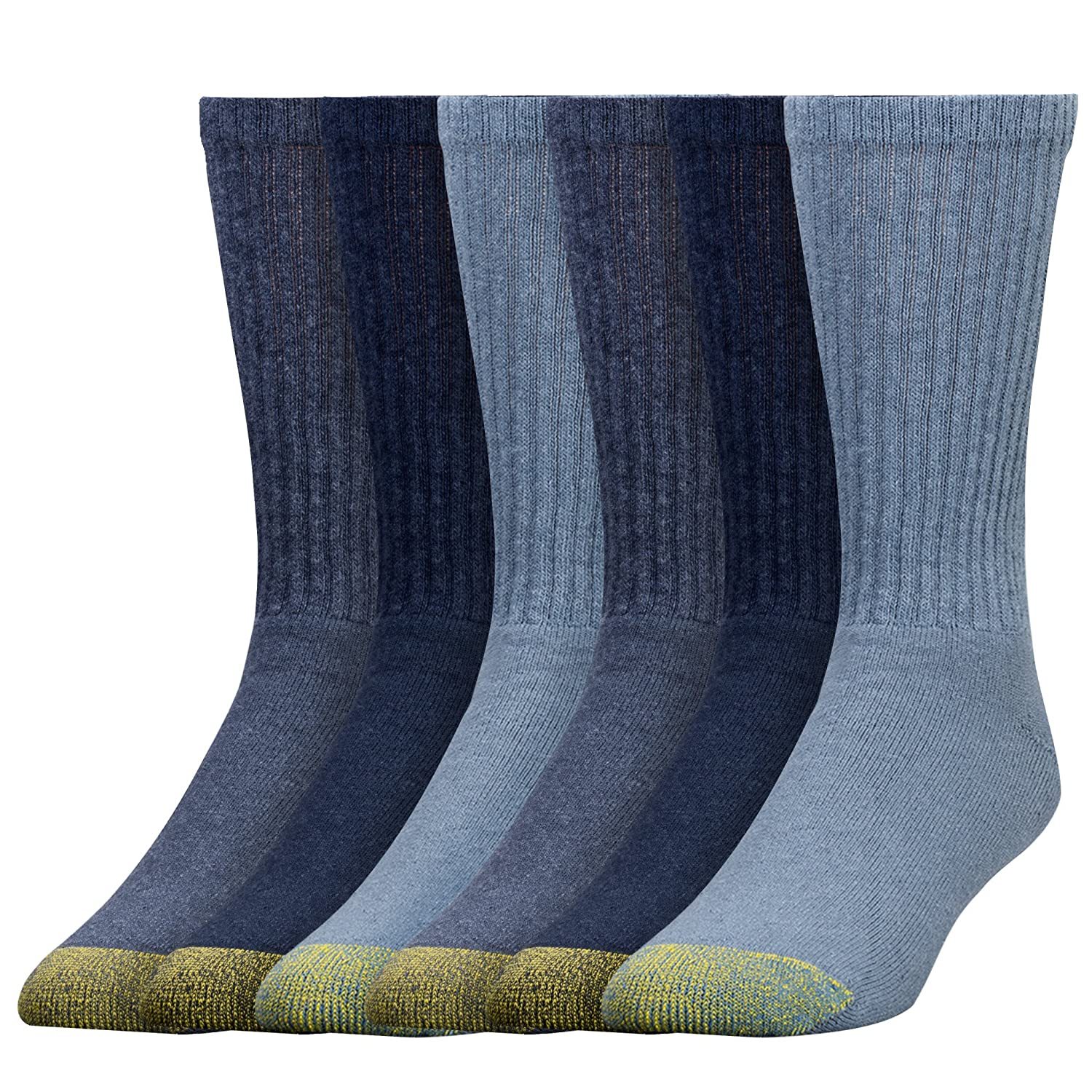 Gold Toe Men's Cotton Crew Athletic Sock 6-Pack 656S