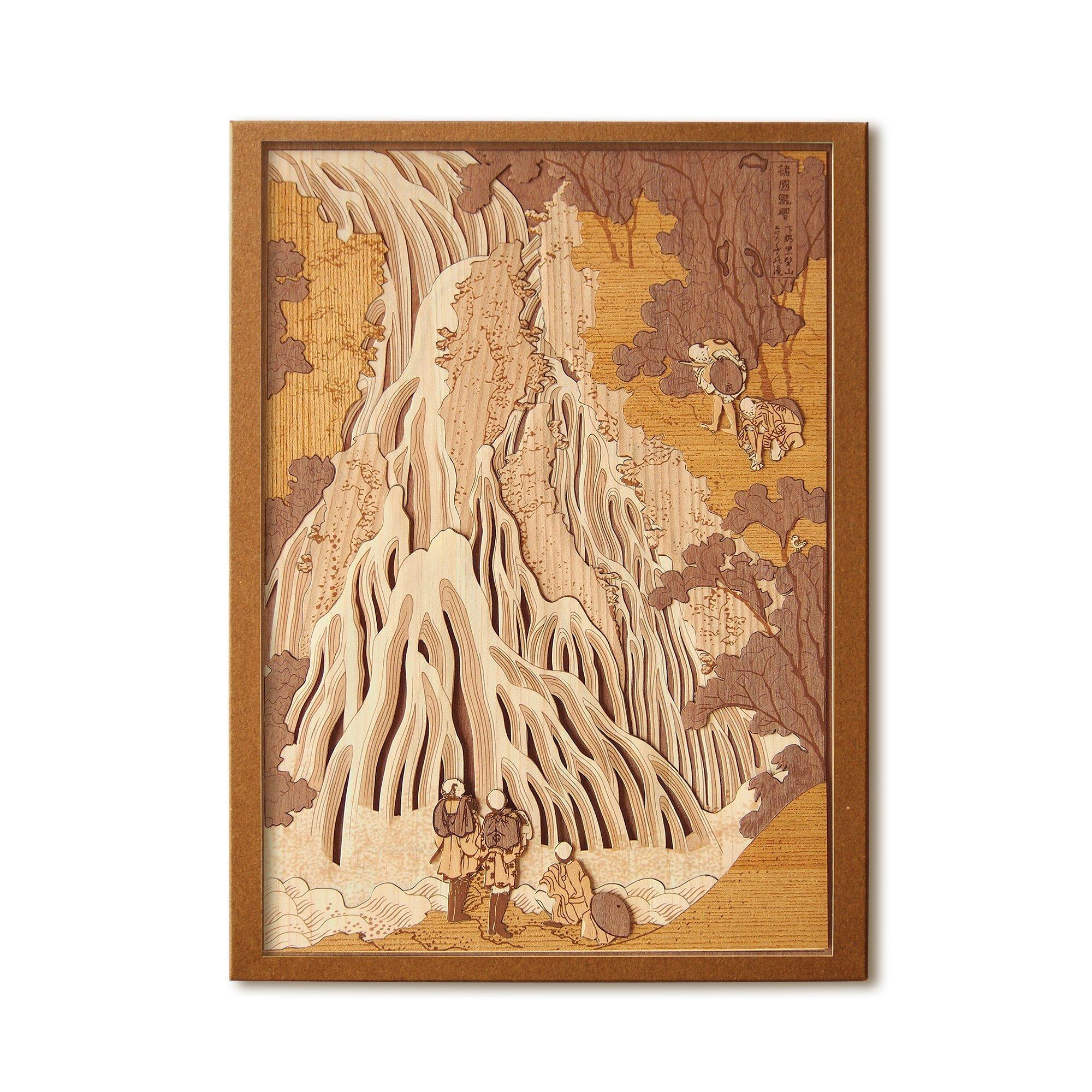 KINOWA Ukiyoe Art Kit Kiharie Kirifuri Waterfall at Mt. Kurokami in Shimotsuke Made in Japan by KINOWA (Image #1)