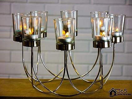 e94e6b87a5 Garden Mile® Beautiful Tea Light Glass Candle Holder Wedding ...