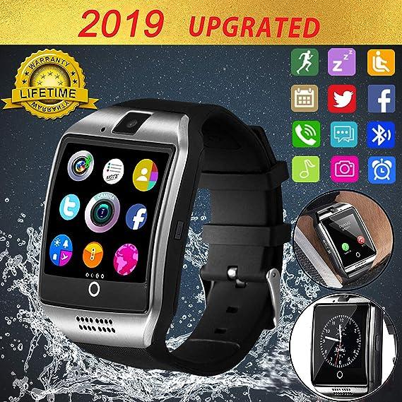 Bluetooth Smart Watch Touch Screen Smartwatch Smart Wrist Watch Phone Fitness Tracker SIM TF Card Slot Camera Pedometer Kids Women Men Compatible with ...