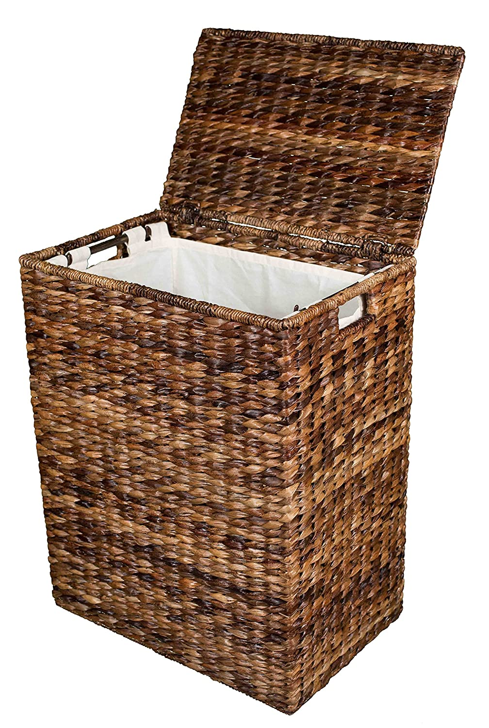 Amazon.com: BirdRock Home Abaca Laundry Hamper | Hand Woven | Removable  Canvas Laundry Bag: Home & Kitchen
