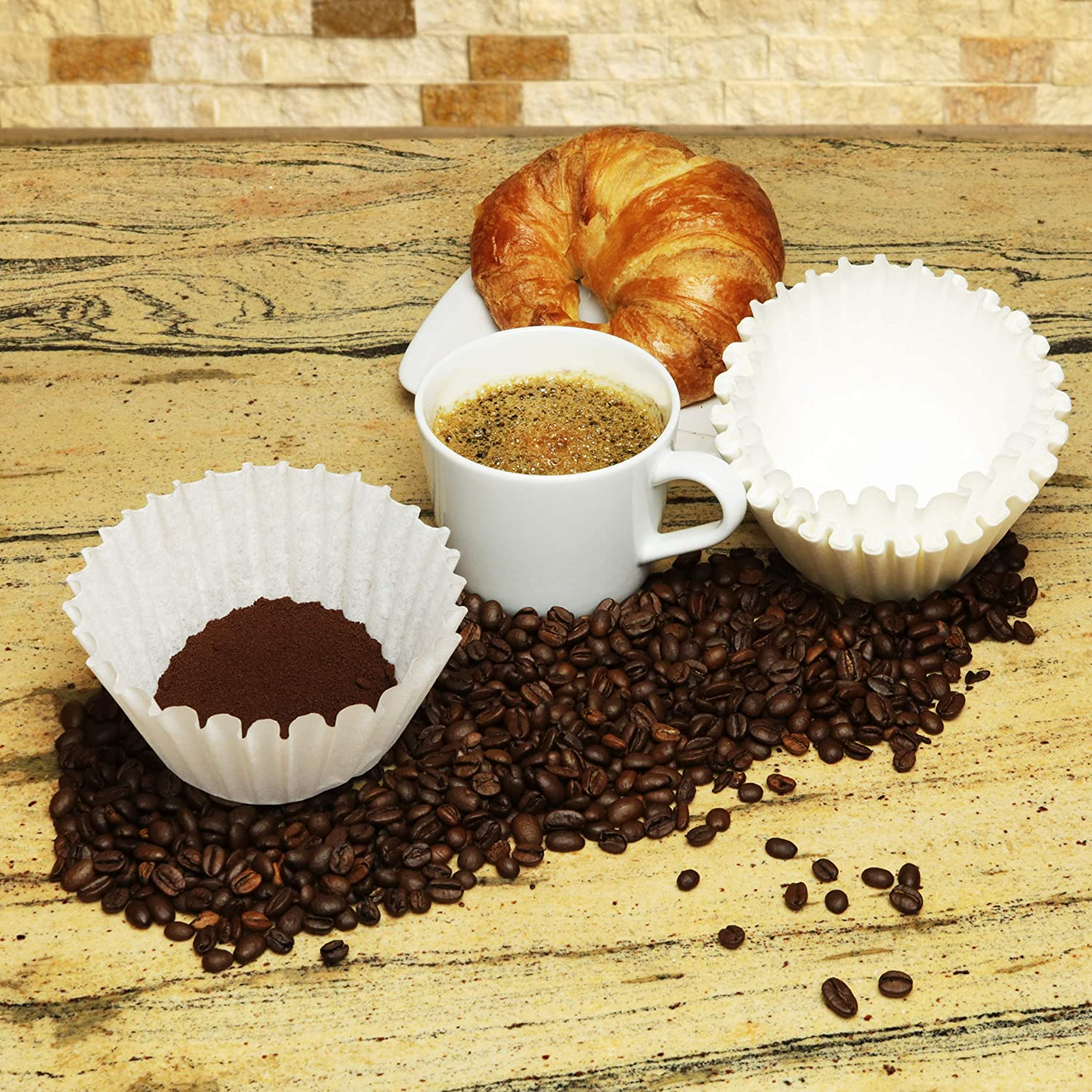 White, 500 8-12 Cup Basket Coffee Filters