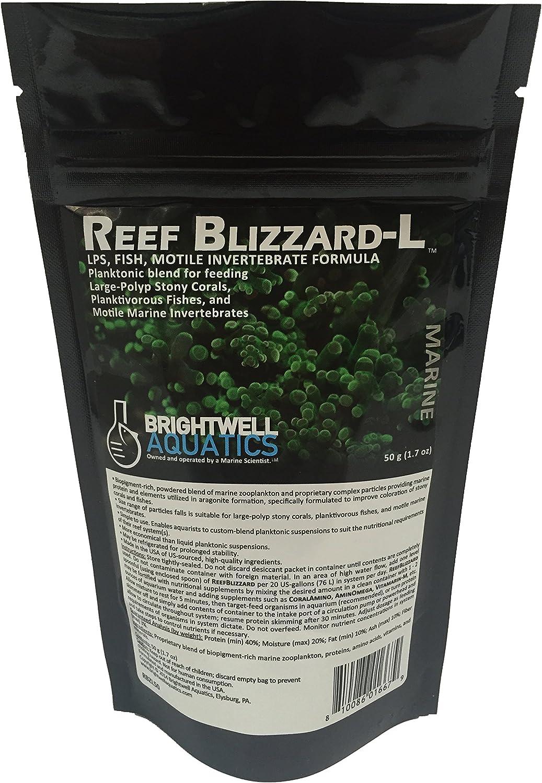 Brightwell Aquatics Reef Blizzard L - Powder Planktonic Food Blend to Feed Large Stony Corals & Planktivorous Fish