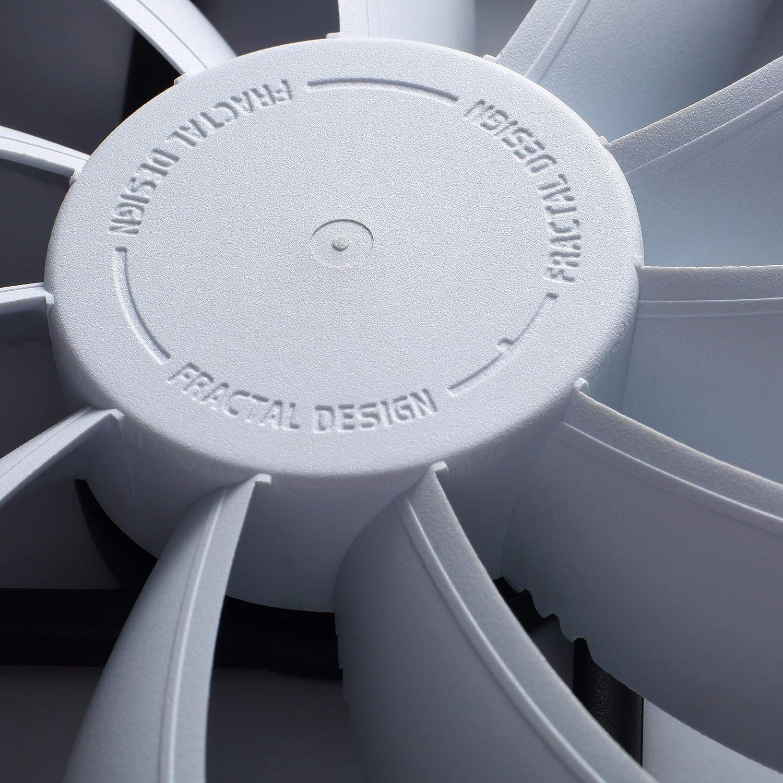 Single Fdb-Bearings PWM High Airflow White 140 mm Computer Fan Silent Fan 12V Long Life Time Aerodynamically Shaped Struts Fractal Design Venturi HP-14 White