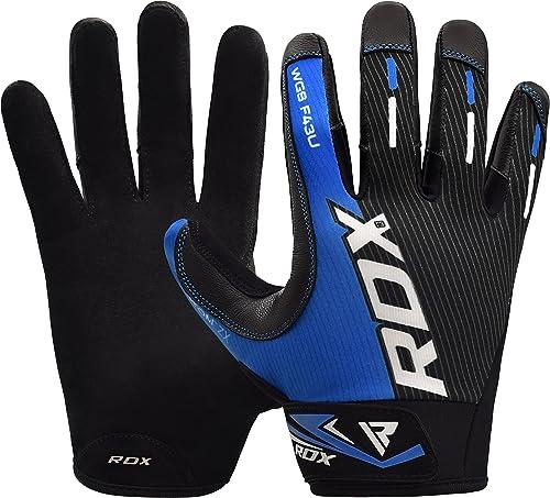 Rdx Ladies Bodybuilding Weight Lifting Gym Gloves: Bionic Men's PerformanceGrip Full Finger Fitness Gloves