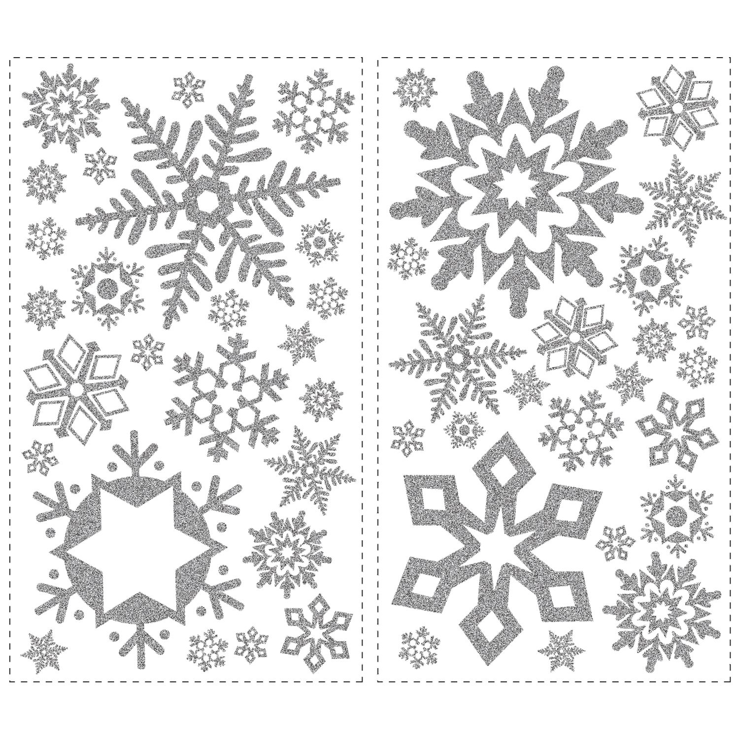 RoomMates RMK1413SCS Glitter Snowflakes Peel U0026 Stick Wall Decals, 47 Count    Decorative Wall Appliques   Amazon.com