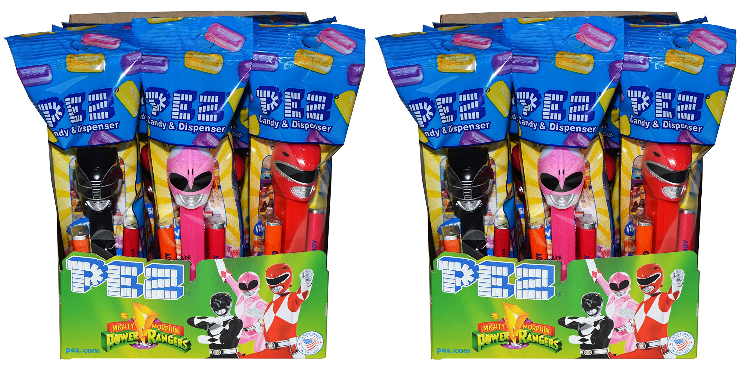 Power Rangers PEZ Candy Dispensers Party Favors (24 Pack) by PEZ Candy