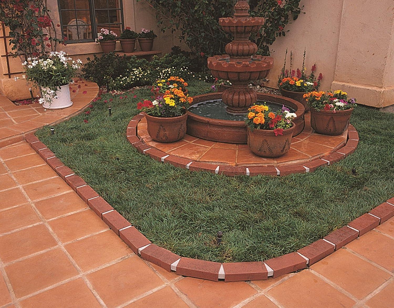 Amazon.com : Argee RG825 Lets Edge It Decorative Plastic Brick Edging, No  Lights, 25 Feet, Terra Cotta : Garden Border Edging : Garden U0026 Outdoor