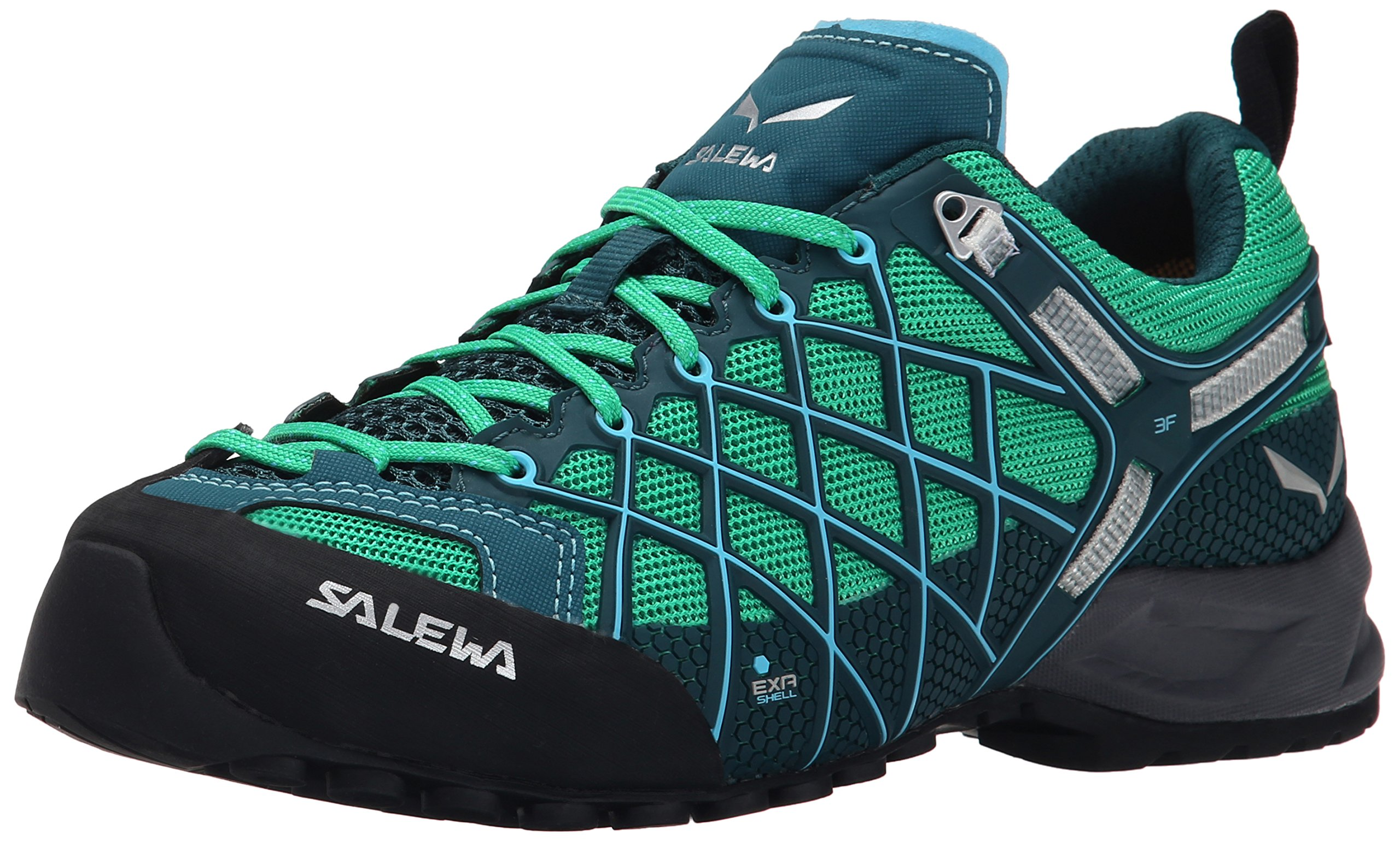 Salewa Women's Wildfire S GTX Technical Approach Shoe, Cypress/River Blue, 6.5 M US