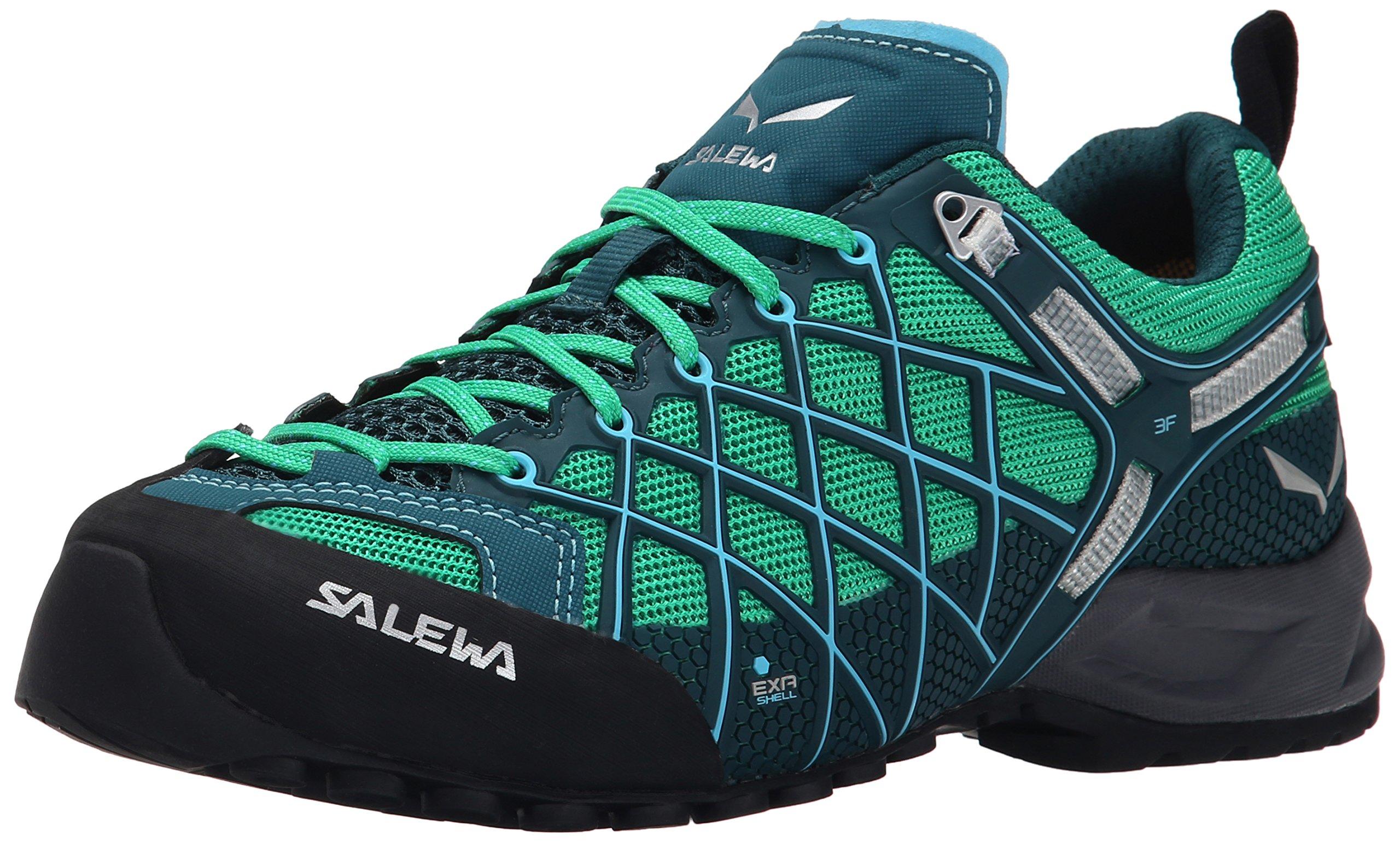 Salewa Women's Wildfire S GTX Technical Approach Shoe, Cypress/River Blue, 8.5 M US