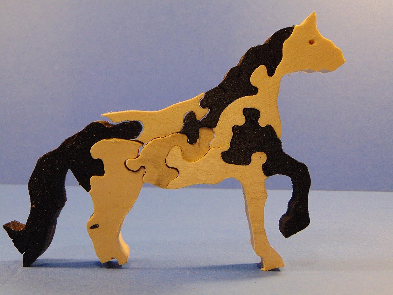 3-D Wooden Horse Puzzle